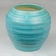 Ваза Веретено керамика выс 16 см диам 12 см бирюза фото