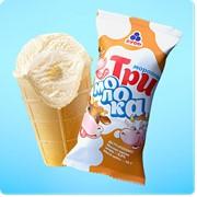 Мороженое в вафельном стаканчике Три молока фото