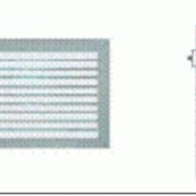 Решетки вентиляционные с лопастями в один ряд модель ATMOSFER VENT RAG-RAR фото