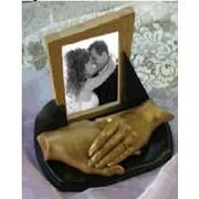 Изготовление скульптурных копий рук влюблённых, слепки рук, слепок детской ручки, слепок детской ножки фото