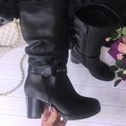 Женские кожаные сапоги деми или зима. ДС-21-1118 фото
