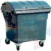 Контейнер для раздельного сбора мусора пластиковый 1100 литров (с полукруглой крышкой) фото