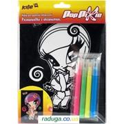 Раскраска с бархатом + 4 фломастера Pop Pixie PP14-157K 25786 фото