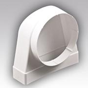 Соединитель угловой 90° прямоугольного воздуховода 60х204 с круглым D100 620СК10КП фото