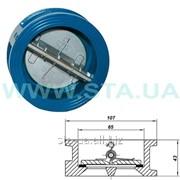Клапан обратный межфланцевый 2-створ. 50 мм РУ 16 фото