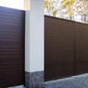 Ворота распашные 3200х1800 зашивка профлистом с 2-х сторон фото
