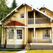 Дом из оцилиндрованного бревна, дома из оцилиндрованного бревна, деревянные дома. фото