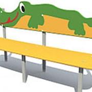 Скамейка детская Крокодил Арт.8015 фото
