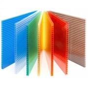Сотовый поликарбонат от 4 до 10 мм цветной и прозрачный - 2 УФ защита арт № 193 фото