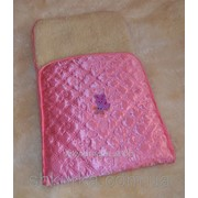 Детский конверт из овечьей шерсти Розовый фото