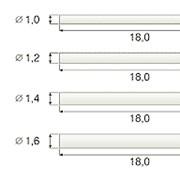 Стекловолоконный эндоканальный штифт цилиндрический. Модель A фото