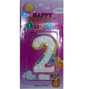 Свеча для торта цифра 2 два парафин фото