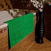 Махровое полотенце для ног 700 гр, 50 х 70 см, цвет Зеленый фото
