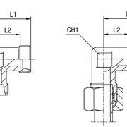 Соединение резьбовое XW серия LL 100 бар Ø трубы 4 фото