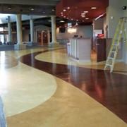 Цветной, полированный бетон. фото