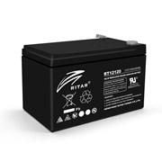 Аккумуляторная батарея AGM RITAR RT12120B, Black Case, 12V 12.0Ah (151х98х 95 (101) ) Q4 фото