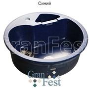 Круглая кухонная с дополнительной секцией Мойка GranFest Rondo GF-R510K цвет синий фото