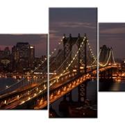 """Модульная картина """"Где этот мост"""" фото"""