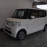 Микровэн турбо HONDA N BOX кузов JF1 класса минивэн модификация G Turbo гв 2013 пробег 108 т.км белый фото