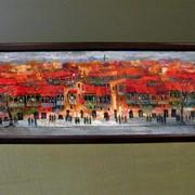 Картина Красный город фото