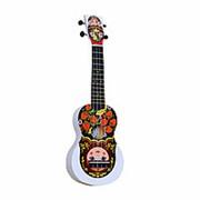 "WIKI UK/MATR - гитара укулеле, сопрано, липа, рисунок ""МАТРЁШКА"", чехол в комплекте. фото"