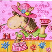 Салфетка для декупажа Розовая пони фото