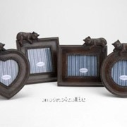 Набор мини-фоторамок коричневые фото