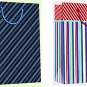 """Пакет подарочный ламинированный """"Полоски"""", 19х9х25см, 2 диз, (Karotti) фото"""