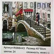 RSB8443 Картина по номерам на мосту 40х50 фото