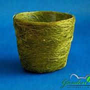 Корзина Круглая 10*12 оливковая из сизаля фото
