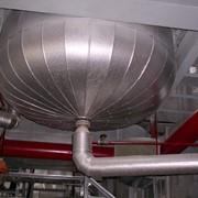 Покрытие промышленного оборудования, трубопроводов алюминиевым металлом фото