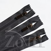 Молния пластиковая, черная, бегунок №71 - 35 см фото
