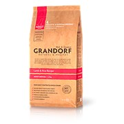 Grandorf Dog 1кг Lamb&Rice Medium Breed Сухой гипоал. корм для взрослых собак средних пород фото