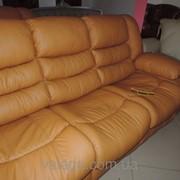 Кожаная мебель диван и кресла реклайнер+качалка фото