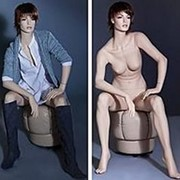 Манекен Женский сидящий фото