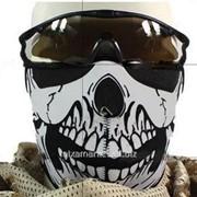Мотомаска неопреновая с черепом тип 2 фото