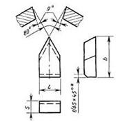 Пластина типа 23 для автоматных резцов ГОСТ 25401-90 фото