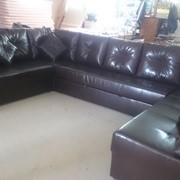 П-образный большой диван со спальным местом в качественной экокоже фото