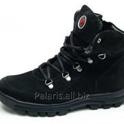 Ботинки для мальчика на шнурке черный замш, арт. 1277-220816 фото