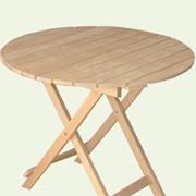 Стол круглый деревянный раскладной диаметром 800 мм фото