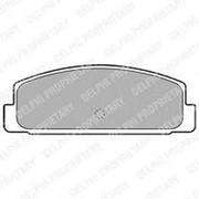Колодки тормозные DELPHI LP1766 задние фото