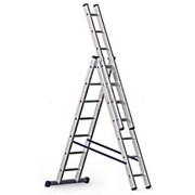 Лестница приставная 2,85 м 10 ступеней М97830 фото