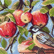 Рисунок на канве р.28/37 В яблоневом саду фото