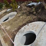 Монтаж бетонных колец, септики, водоотвод, дренаж, канализация, выгребные ямы фото