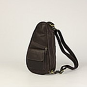 """Кожаная нагрудная сумка """"Юпитер"""" (тёмно-коричневая) фото"""