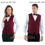 Униформа для работников отелей (жилет женский), арт. 003-0957 фото