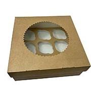 Коробка для кексов 12 ячеек фото
