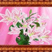 Набор для вышивки Розовые лилии КБЦ - 3018 фото