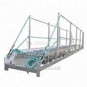 Трап-сходня алюминиевая с эвольвентными ступенями ТСА - 7х600 фото