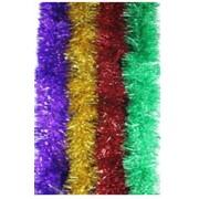 Мишура новогодняя 2 м. пушистая,ассорти,70мм, 8 цветов фото